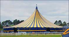 A well pitched tent