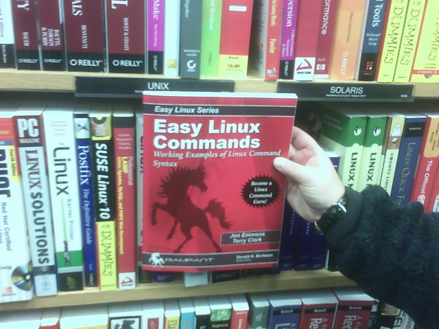 Easy Linux Commands at Borders Concord